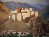 Potala Wall Painting  Tibet