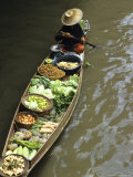 Vendors  Waterways and Floating Market  Damnern Saduak  Thailand