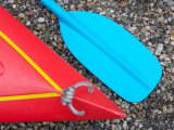 Detail of Red Kayak and Blue Paddle
