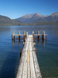 Jetty  Lake Te Anau  Fjordland  South Island  New Zealand