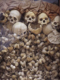 Killing Fields Memorial Temple  Commemorating Victims of Pol Pot Genocide  Siem Reap  Cambodia