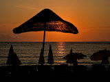 Sunset on Umbrellas  Kusadasi  Turkey