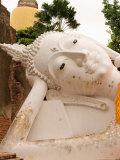 Reclining Buddha Statue at Ayuthaya  Siam  Thailand