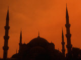 Blue Mosque at Sunset  Istanbul  Turkey