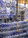 Blue Glass-Eye Pendant Shop in the Grand Bazaar  Istanbul  Turkey