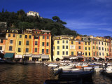 Colorful Buildings with Boats in the Harbor  Portofino  Italy