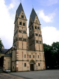 Old Town by Rhine River  St Kastor Church  Koblenz  Germany