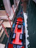 Gondola Docked in Venice  Italy
