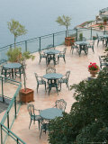 Cafe Tables  Positano  Amalfi Coast  Campania  Italy