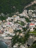 Town View from Amalfi Coast Road  Positano  Amalfi  Campania  Italy