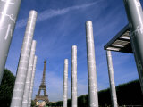 New Peace Towers and Eiffel Tower  Paris  France