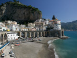 Town View from Coast Road  Amalfi  Campania  Italy