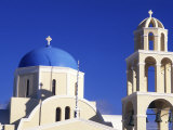 White Orthodox Church of Oia Santorini  Greece