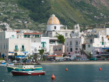 Town View from Fishing Port  Forio  Ischia  Bay of Naples  Campania  Italy