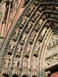 Details of the East Facade  Cathedrale Notre Dame  Strasbourg  Haut Rhin  Alsace  France