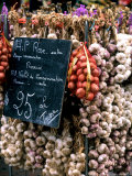 Ropes of Garlic in Local Shop  Nice  France