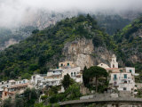 Town View with Fog  Positano  Amalfi Coast  Campania  Italy