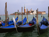 Gondolas near Piazza San Marco  Venice  Italy