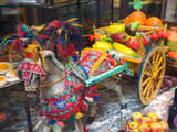 Miniature Sicilian Horsecart and Marzipan Candy  Corso Umberto 1  Taormina  Sicily  Italy