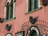 Pink Building Detail  Taormina  Sicily  Italy