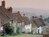 Town Architecture  Shaftesbury  Gold Hill  Dorset  England