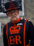 Beefeater in Costume at the Tower of London  London  England