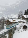 Ski Train  Gstaad  Bern  Switzerland
