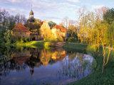 Straupe Castle in Gauja National Park  Latvia