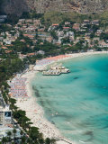 Beach View from Monte Pellegrino  Mondello  Sicily  Italy