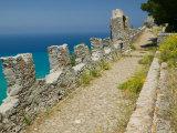 Cliffside Walkway  La Rocca Mountain  Cefalu  Sicily  Italy