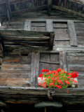 Detail of Old Home Construction  Hinterdorf  Zermatt  Switzerland