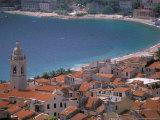 Town View from Castelo  Riviera Di Ponente  Noli  Liguria  Portofino  Italy