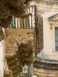 Baroque Details of the Palazzo Villadorata  Palazzo Nicolaci  Noto  Sicily  Italy