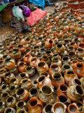 Clay Pot Vendor  Lake Atitlan  Solola  Western Highlands  Guatemala