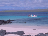 Tourists in Dinghy  Hook Island  Galapagos Islands  Ecuador