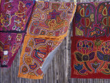 Hand-Stitched Molas  Kuna Indian  San Blas Islands  Panama