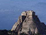 Tourist  Pyramid  Uxmal  Mexico