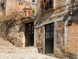 Cobblestone Steps in Hillside Neighborhood  Guanajuato  Mexico