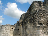 Stone Wall Ruins of Mayan Civilization  Yaxha  Guatemala