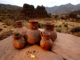 Wari Face Neck Jars and Painted Vessels  Cache  Empires of the Sun  Huari  Peru