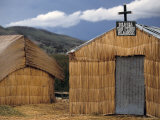 Uros (Floating Reed Island)  Church Made from Reeds  Lake Titicaca  Peru