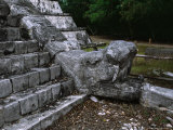 Stone Snake Head  Chichen Itza  Mexico
