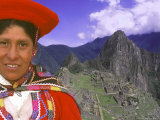 Native Woman at Machu Picchu  Peru