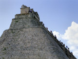 Tourist  Pyramid  Uxmal  Mexico