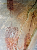 Pre-Historic Native American Pictographs at Bear Gulch near Lewistown  Montana  USA