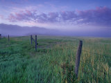 Fenceline near Jefferson River and Tobacco Root Mountains  Silver Star  Montana  USA