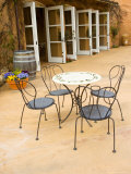 Patio Table at Viansa Winery  Sonoma Valley  California  USA