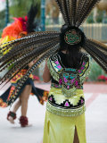 Aztec Indian Dancer  El Pueblo de Los Angeles  Los Angeles  California  USA