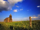 Old Church at Dooley Ghost Town Site  Montana  USA