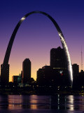 Looking Across the Mississippi River to St Louis  USA